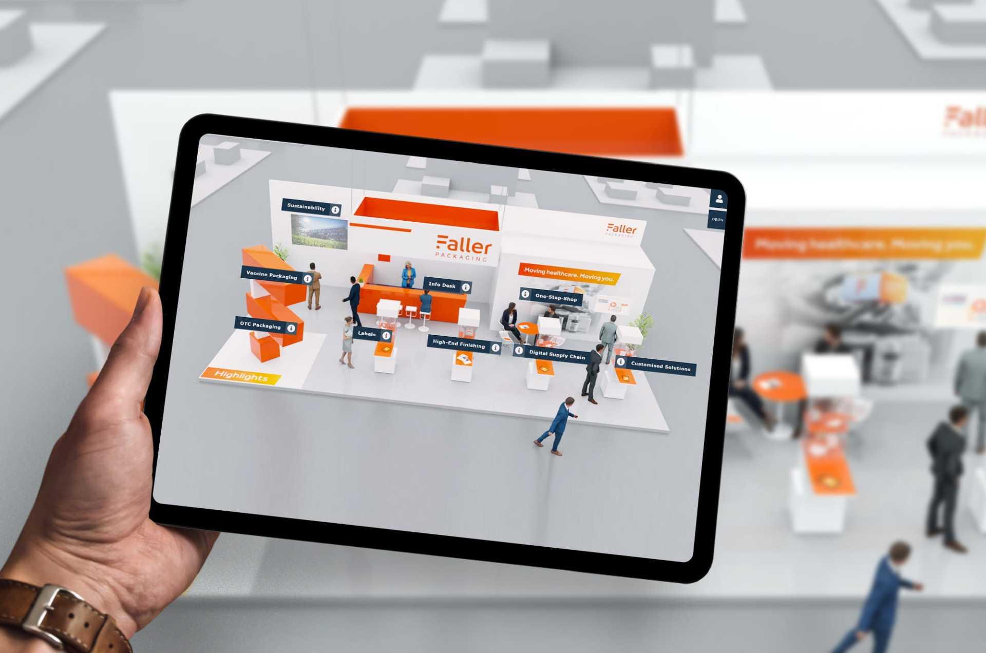 Digitale Messe auf einem iPad von commalive