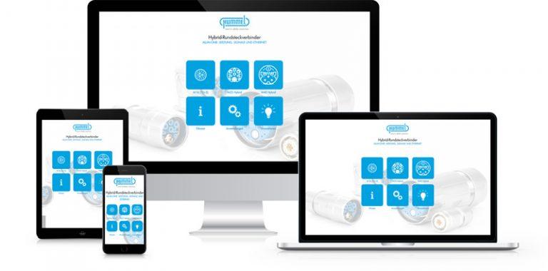 Präsentations-App von commalive für den Kunden Hummel