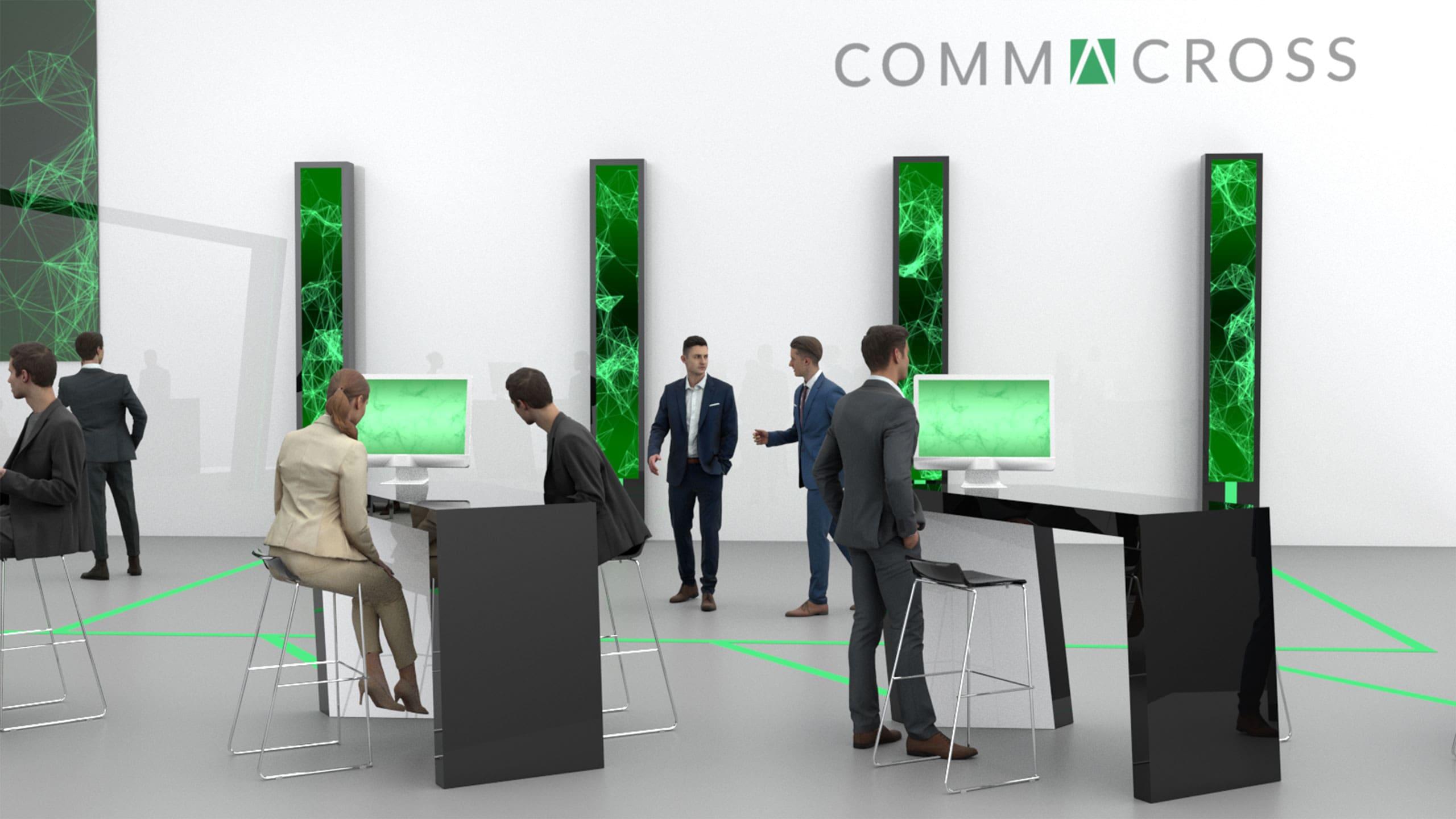 Virtueller, interaktiver Messestand von commalive.