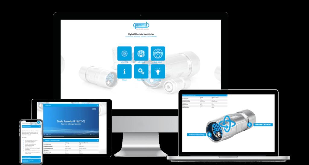 Interaktive, virtuelle Präsentation von Hummel
