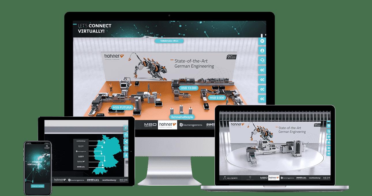 Interaktive, virtuelle Präsentation von Postpress