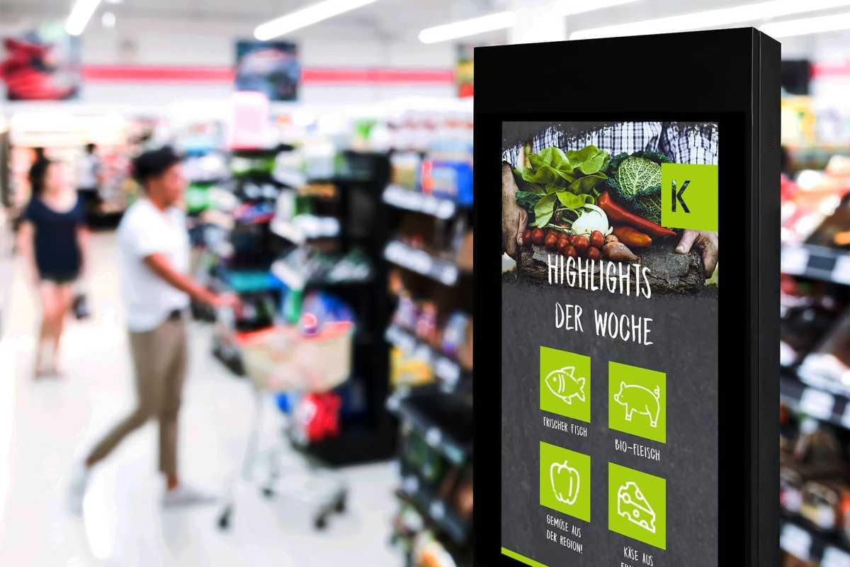 Digital Signage Display für den EInzelhandel von commalive