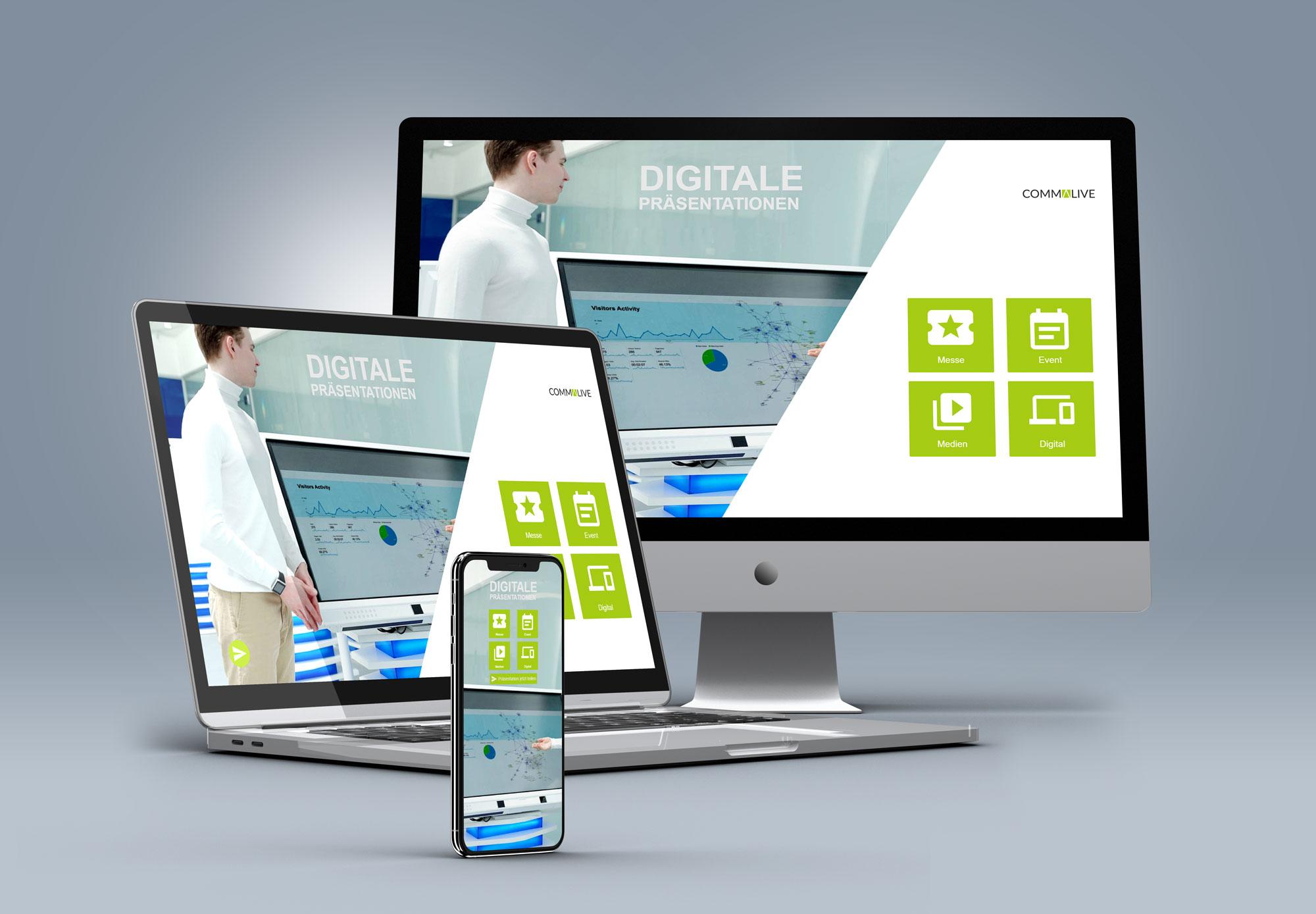 Präsentations-App von commalive - die Multi-Device-Lösung!