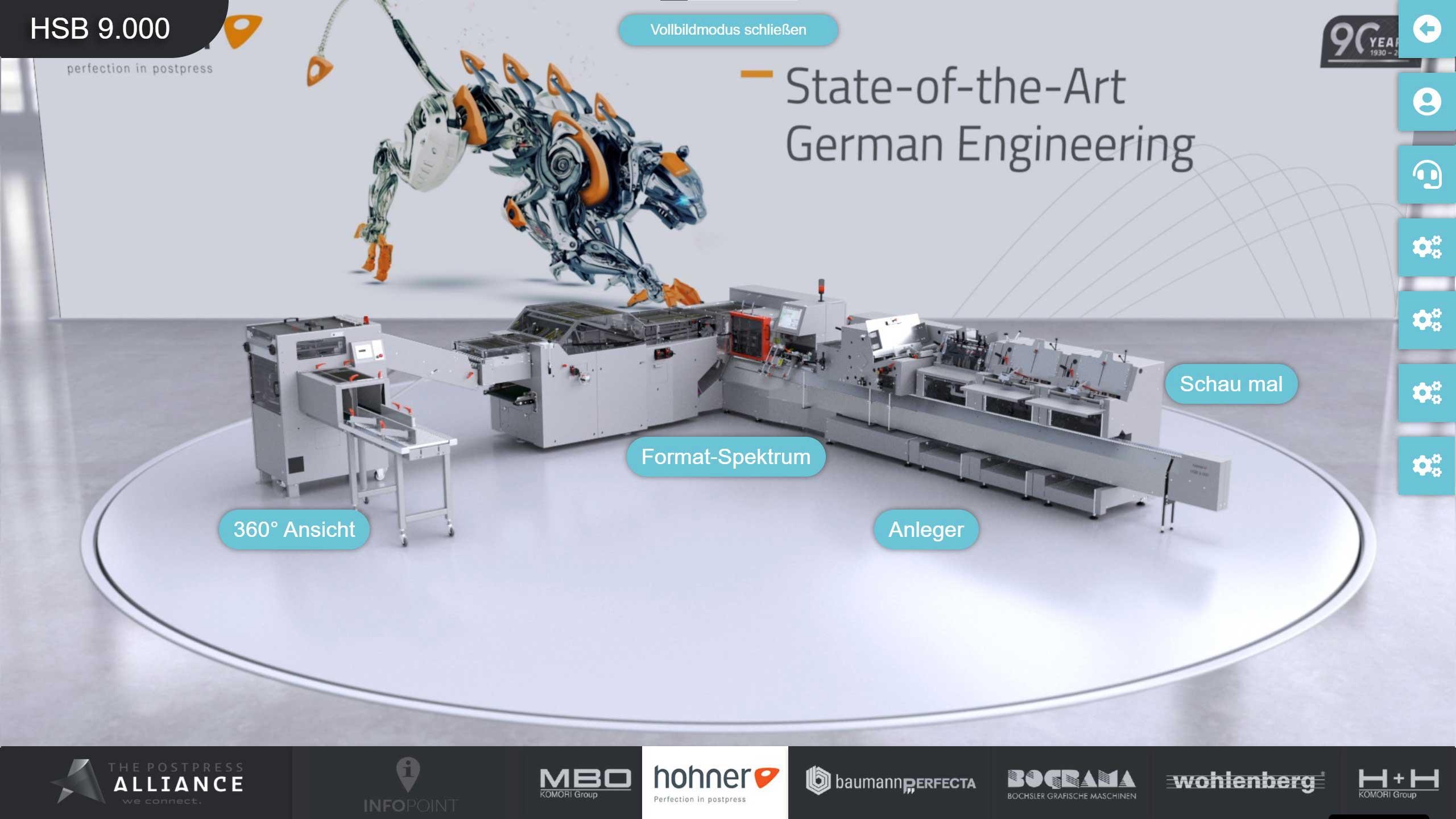 Virtueller Messestand von Hohner, designed by commalive.